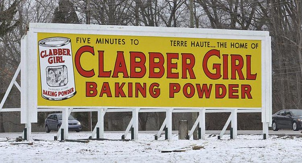 Historic Hulman Co Clabber Girl Sign Resoration 2019