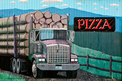 Lumber Mural Pizza Sign Steel Penny Saloon Myrtle Point OR_0853
