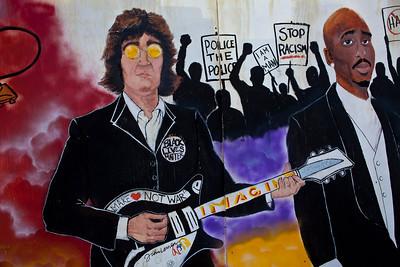 John Lennon & Tupac Shakur Mural Mobile AL_2490