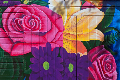 Garage Door Mural The Flower Gallerie Junction City OR_0780