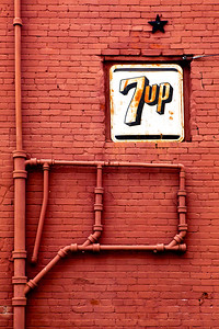 7up Sign Brick Wall Plumming Hillsboro TX_1254