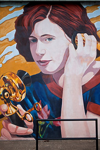 Mural Woman with a Handset Telephone Lufkin TX_1088