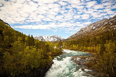 River through Norway