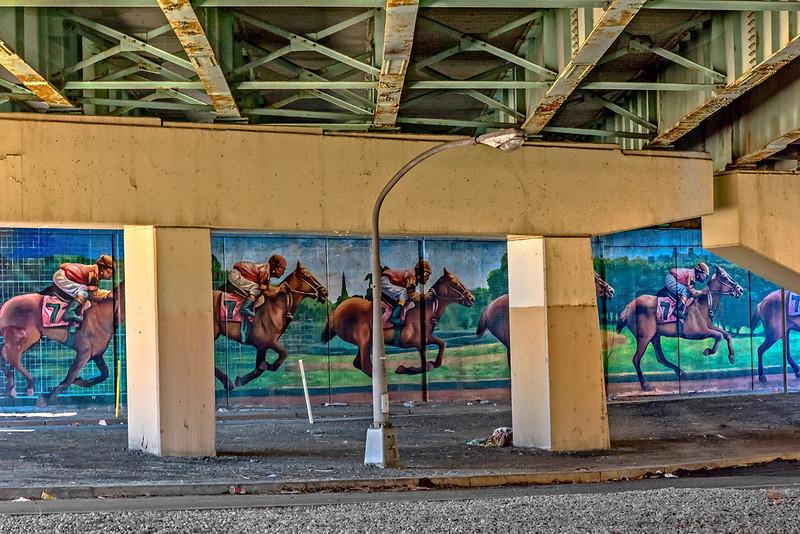 Racing Mural Under I-95 Bridge