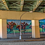 Racing Mural Under I-95 Bridge