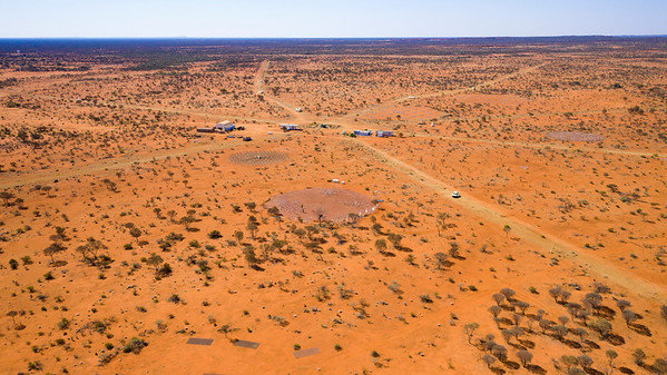An aerial view of the low-frequency arrays at the Murchison Radio-astronomy Observatory.