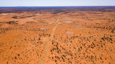 An aerial view of the low-frequency arrays at the Murchison Radio-astronomy Observatory. Credit: ICRAR/Curtin.