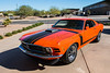 Another view of 1970 Boss 302 Calypso Coral Mustang