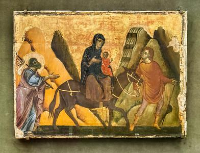 Giudo da Siena: Flucht nach Ägypten [Um 1270-1280, Lindenau-Museum Altenburg]