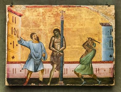 Guido da Siena: Geißelung Christi [Um 1270-1280, Lindenau-Museum Altenburg]