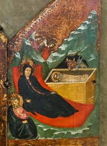 Pacino di Buonaguida: Triptychon mit Kreuzigung Christi, Detail [Um 1310-1320, Lindenau-Museum Altenburg]