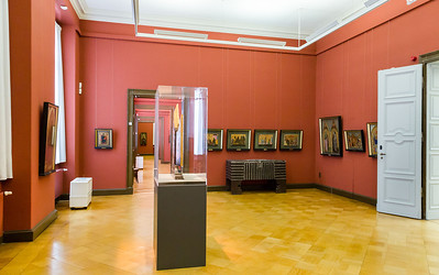 Lindenau-Museum Altenburg: Mittelraum der Italienersammlung