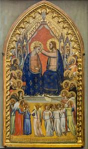 Puccio di Simone: Krönung Mariens mit Engeln und Heiligen [Um 1340-1345, Lindenau-Museum Altenburg]