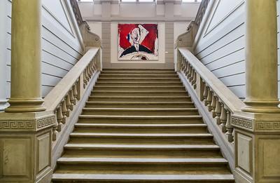 Lindenau-Museum Altenburg, Aufgang zum 1. Stock