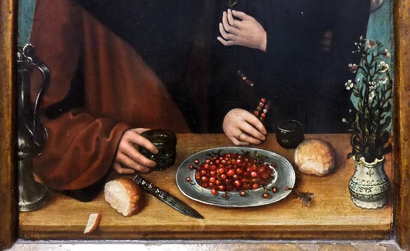 Meister von Frankfurt: Selbstporträt mit Frau (Antwerpen, Museum der Schönen Künste)