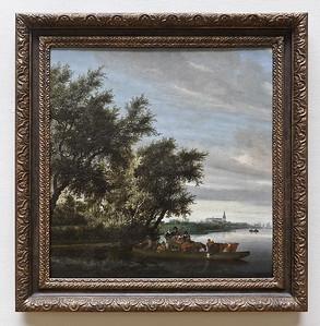 Salomon von Ruysdael: Die Fähre  (Antwerpen, Museum der Schönen Künste)