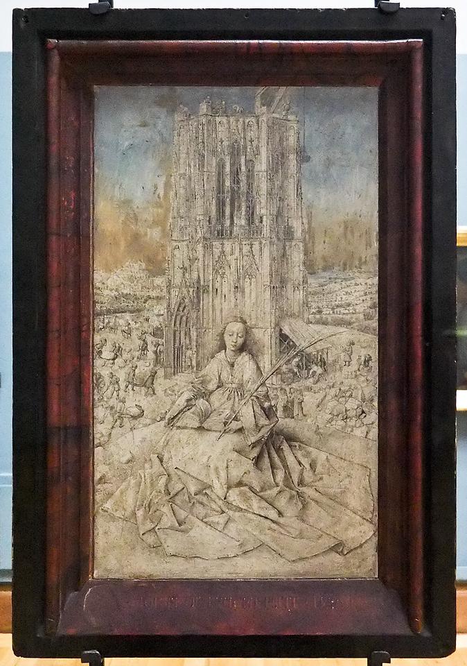 Jan van Eyck: Heilige Barbara (Antwerpen, Museum der Schönen Künste)