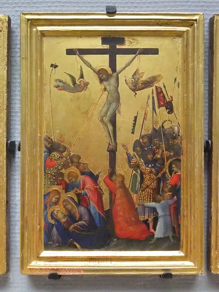 Simone Martini: Polyptychon der Passion - Kreuzigung (Antwerpen, Museum der Schönen Künste)