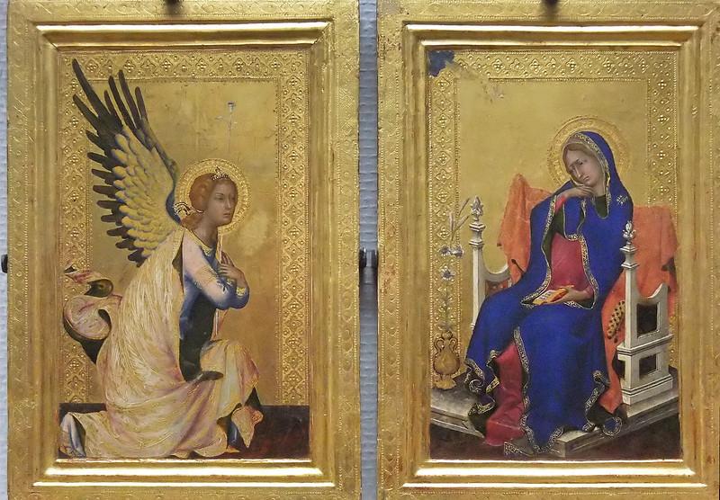 Simone Martini: Polyptychon der Passion - Verkündigung (Antwerpen, Museum der Schönen Künste)