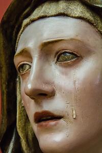 """Die einen sind noch von Trauer überwältigt, ... (""""Mater Dolorosa"""", Pedro Roldán, um 1679, noch im Bode-Museum)"""