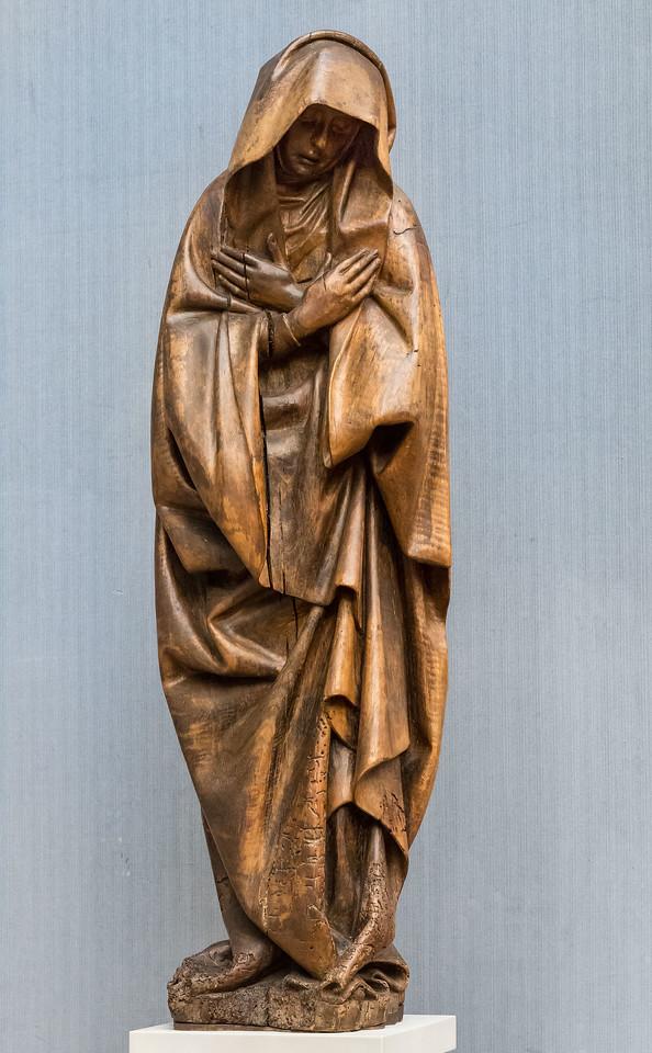 Südl. Niederlande: Maria aus einer Kreuzigung (um 1420/30) [aus Bode-Museum Berlin]