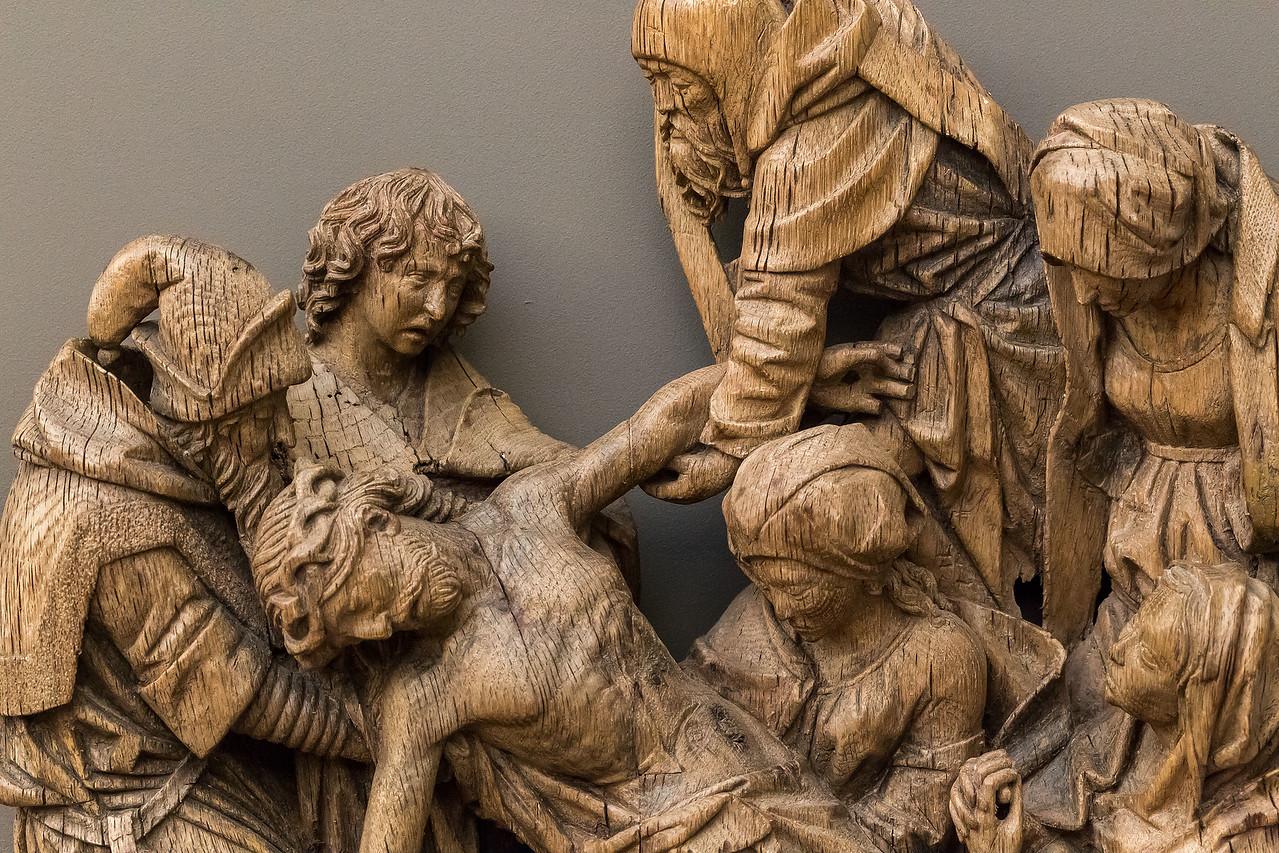 Adrian von Wesel: Kreuzabnahme, Detail (um 1490) [aus Bode-Museum Berlin]