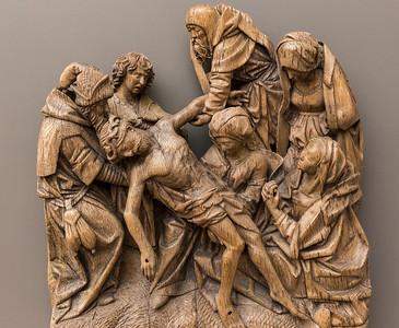 Adrian von Wesel: Kreuzabnahme (um 1490) [aus Bode-Museum Berlin]