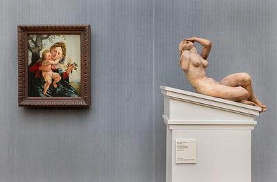 Südl. Niederlande: Schreiende Frau (E. 16.Jh.) in Raum 7 (J.v. Scorel) [Gemäldegalerie Berlin]