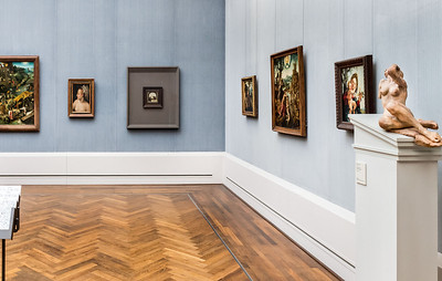 Schreiende Frau in Raum 7 (P. Bruegel, J.v. Scorel) [Gemäldegalerie Berlin]