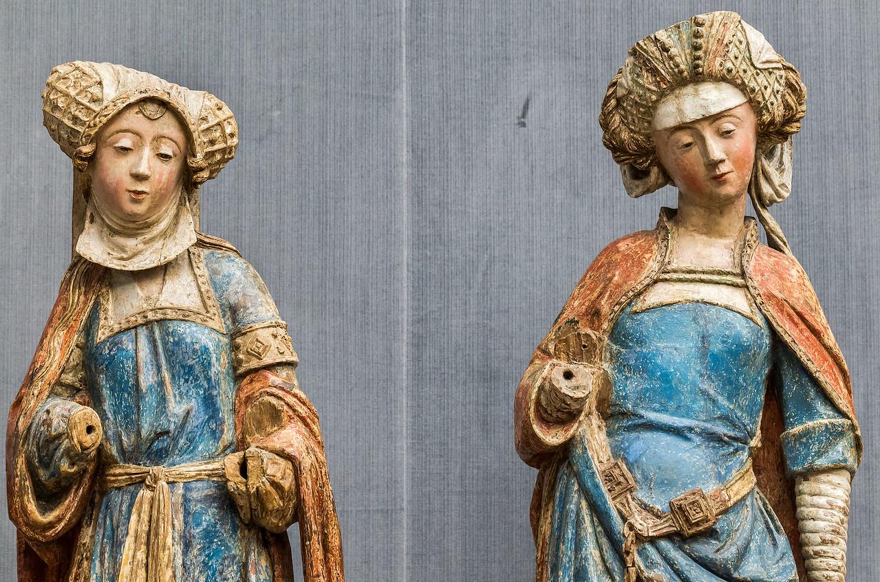 Brabant: Zwei Frauen aus eine Grablegung, Detail (um 1510/20) [aus Bode-Museum Berlin]