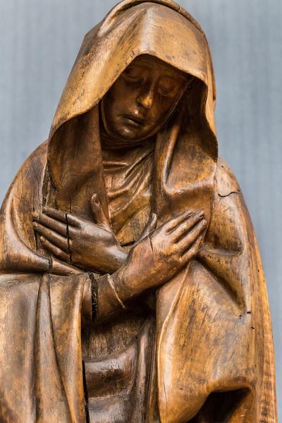 Südl. Niederlande: Maria aus einer Kreuzigung, Detail (um 1420/30) [aus Bode-Museum Berlin]