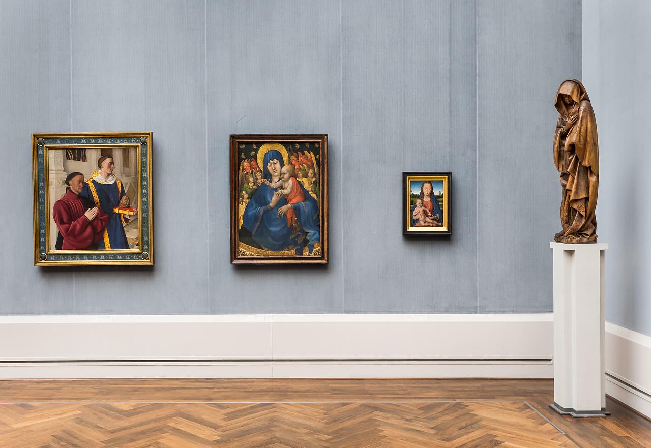 südniederl. Maria aus Kreuzigung in Raum V (Fouquet, Malwel, Memling) [Gemäldegalerie Berlin]