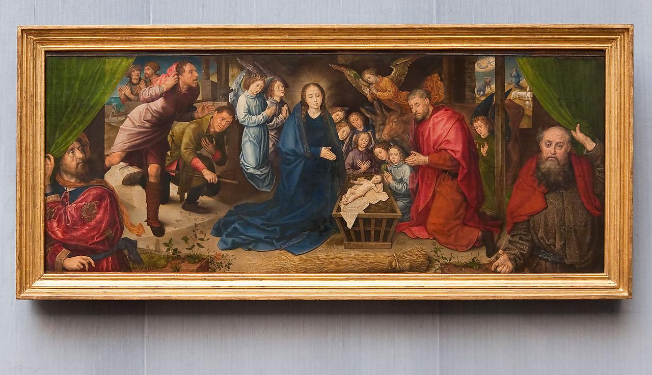 Hugo van der Goes: Die Anbetung der Hirten, um 1480 [Gemäldegalerie Berlin, in restauro]