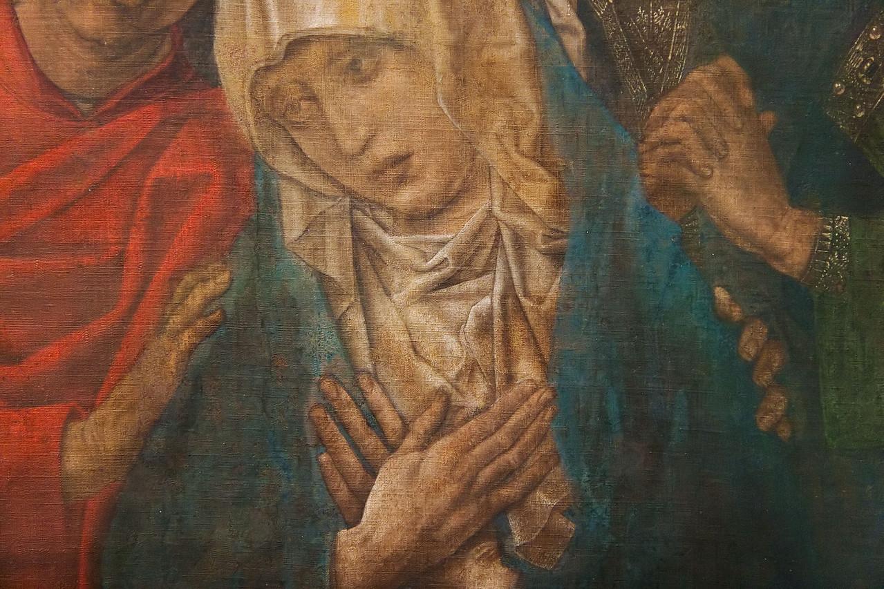 Hugo van der Goes: Die Beweinung Christi, Detail, um 1480 [Gemäldegalerie Berlin]