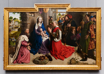 Hugo van der Goes: Die Anbetung der Könige (Montforte-Altar), um 1470 [Gemäldegalerie Berlin]