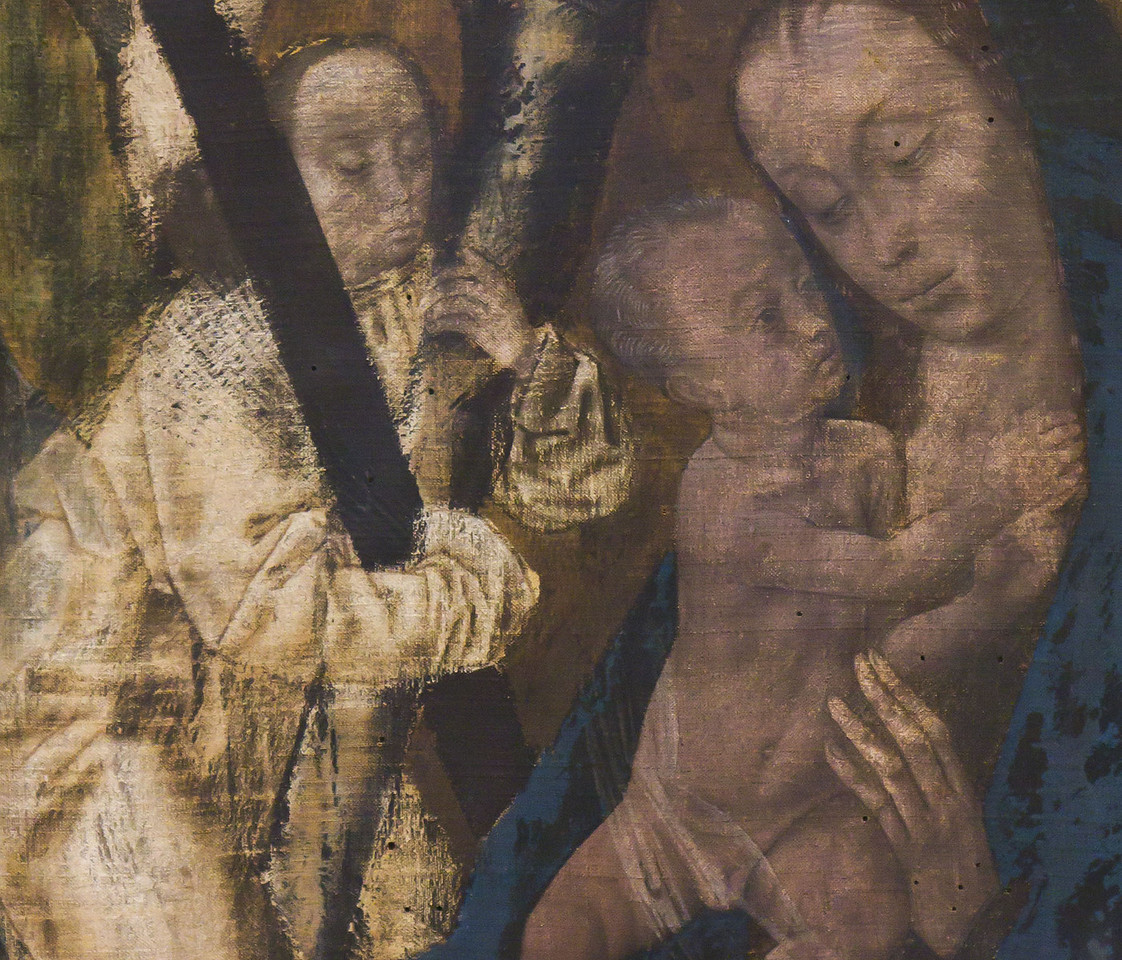 Hugo van der Goes: Madonna mit Engel, um 1480 [Germanisches Nationalmuseum Nürnberg]