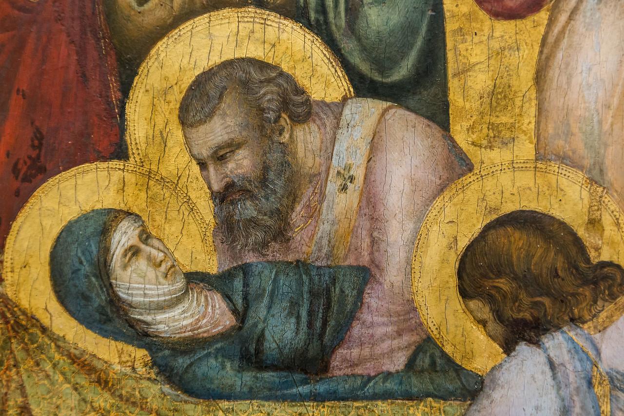 Giotto: Die Grablegung Mariae, Detail [um 1310, Gemäldegalerie Berlin]
