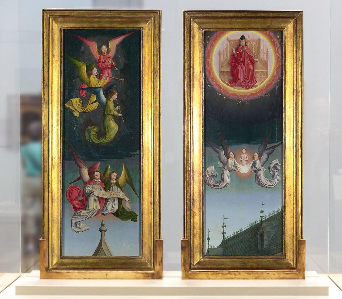 Simon Marmion: Omer-Retabel - Aufsatz Festtagsseite [1459, National Gallery London]