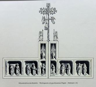 Simon Marmion: Omer-Retabel, Rekonstruktion Werktagsseite [1459]