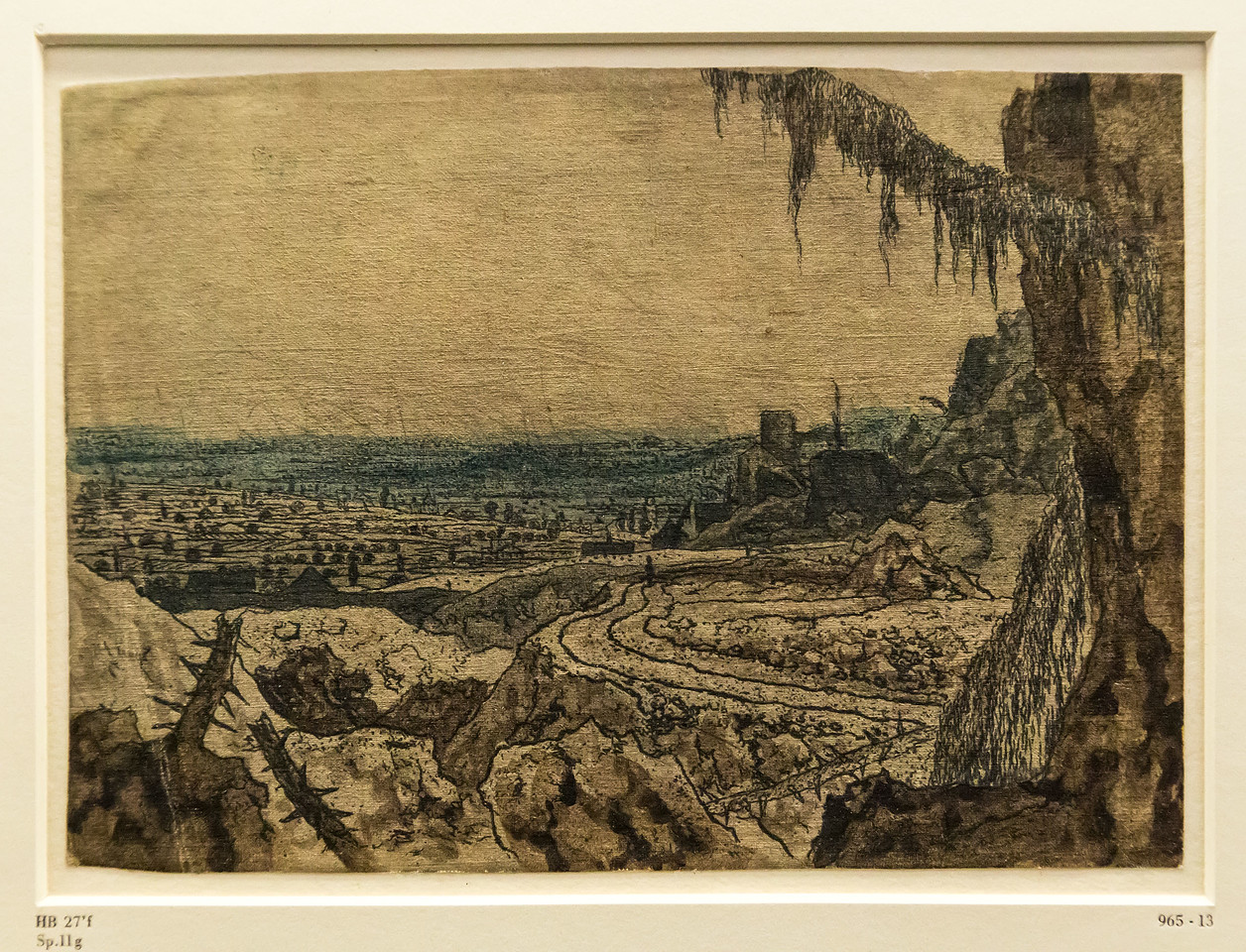 Hercules Seghers: Die Landschaft mit dem Fichtenzweig 2 [um 1620/30, Kupferstichkabinett Berlin]