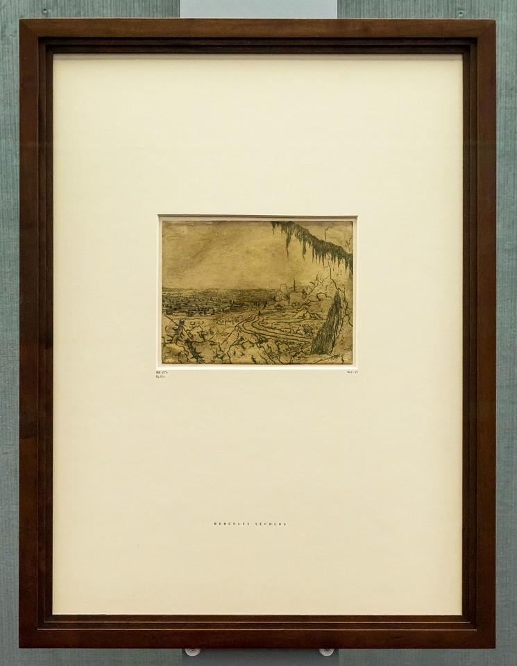 Hercules Seghers: Die Landschaft mit dem Fichtenzweig 1 [um 1620/30, Kupferstichkabinett Berlin]