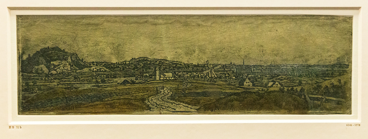 Hercules Seghers: Ansicht von Wageningen [um 1620, Kupferstichkabinett Berlin]