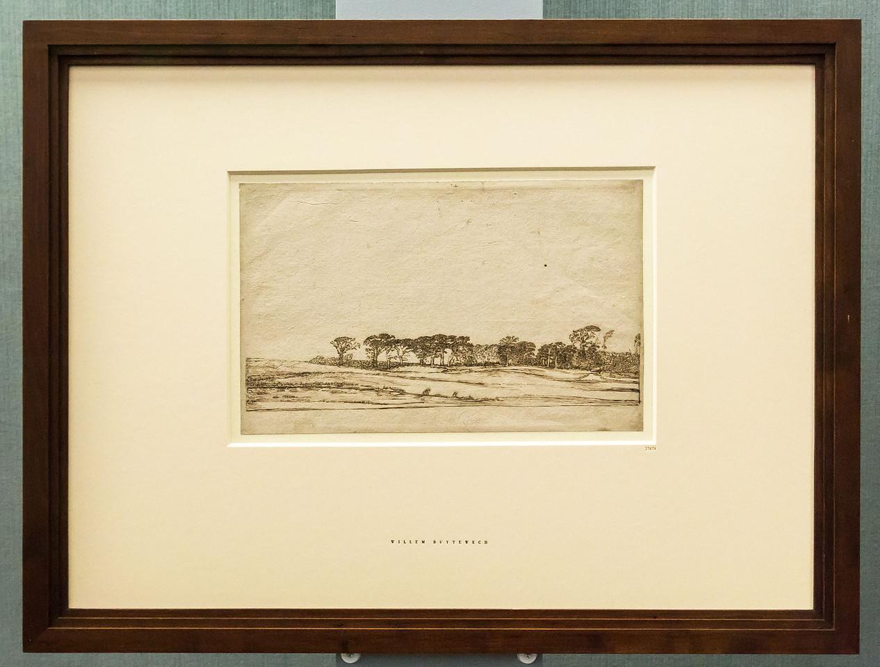 Willem Buytewech: Landschaft mit Baumreihe [um 1617-1622, Feder, Kupferstichkabinett Berlin]
