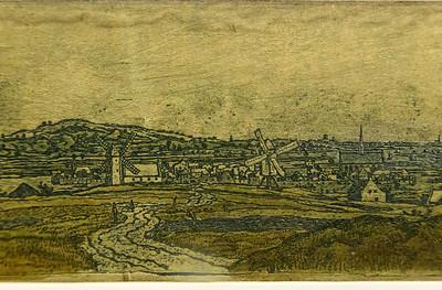 Hercules Seghers: Ansicht von Wageningen, Detail [um 1620, Kupferstichkabinett Berlin]
