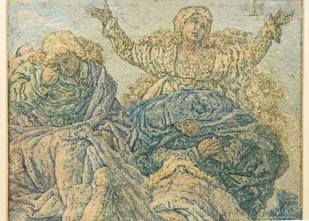 Hercules Seghers: Die Beweinung Christi, Detail [um 1620, Kupferstichkabinett Berlin]