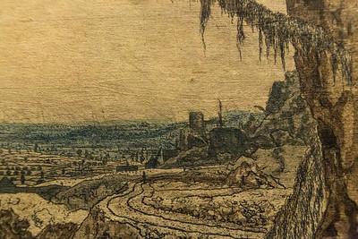 Hercules Seghers: Die Landschaft mit dem Fichtenzweig, Detail 2 [um 1620/30, Kupferstichkabinett Berlin]