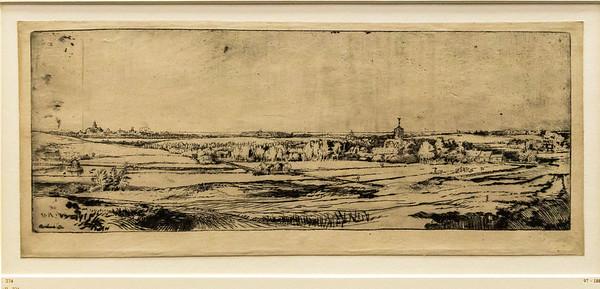 Rembrandt: Landschaft mit dem Gut des Goldwägers, Detail [1651, Kupferstichkabinett Berlin]