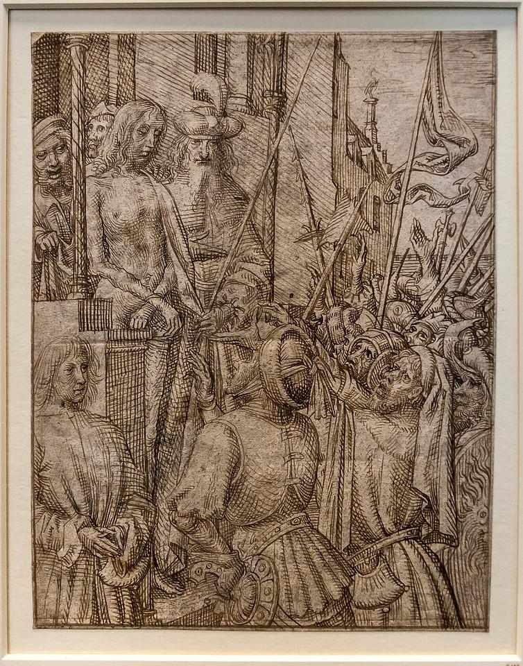 Meister des Todes von Absalom: Christus wird dem Volk gezeigt [Um 1500, Kupferstichkabinett Berlin]