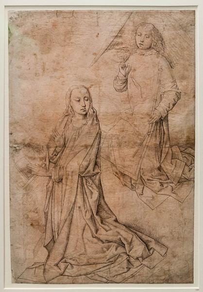 Südniederländisch: Verkündigung [Um 1480-1500, Kupferstichkabinett Berlin]
