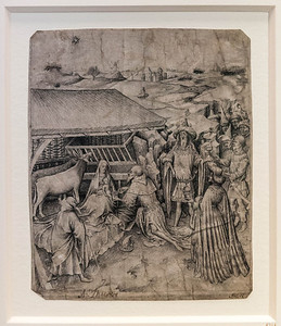 Meister des Zweder van Culemberg (zugeschrieben): Anbetung der Könige [um 1430, Kupferstichkabinett Berlin]